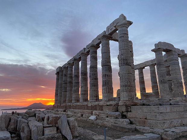 Sunset at Poseidon's Temple