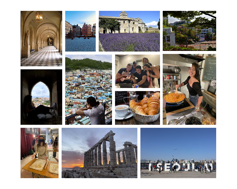 Study Abroad Photo Contest Collage
