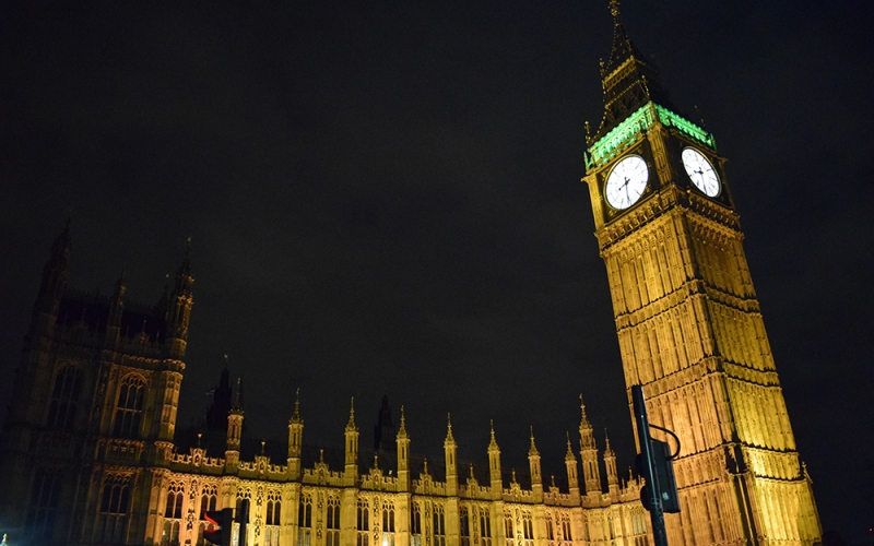 Study Abroad London - Big Ben lit up at night