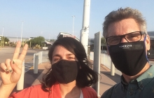Mariel Miranda arrives in Tucson from Tijuana, with Professor David Taylor.