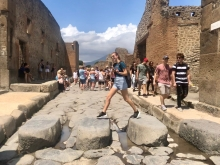 Student on Study Abroad experience in Rome