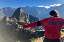 Madison Crutcher in front of Machu Picchu