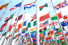 a photo of flags of the world