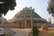 The Great Stupa of Sanchi is one of the oldest religious sites in India, and is said to house the remains of Gautama Buddha. (Photo courtesy of Caleb Simmons)