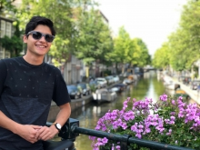 Edward Monteverde Jr. poses outside during his study abroad program in Munich, Germany.