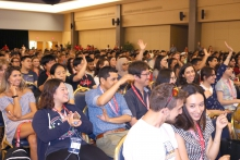 International students gather at the UA Student Union for fall 2018 orientation.