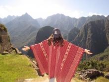 Photo of UA student at Macchu Picchu