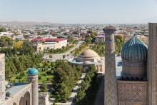 A view from Samarkand, Uzbekistan