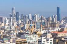 A view of Beirut, Lebanon