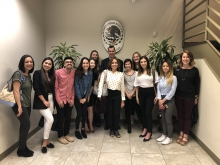 UA Refugee Project cohort at Mexican Consulate