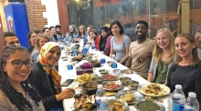 Center for Arabic Study Abroad fellows at an orientation dinnerPhoto courtesy of Harvard University)