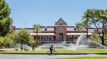 A photo of Old Main at the UA