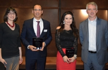 UArizona GEA Recipients and Presenters 2019, from left to right, Sumayya Granger, Robert Cote, Melissa Fitch, Brent White