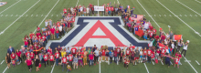 UArizona Global Pep Rally on Football Field