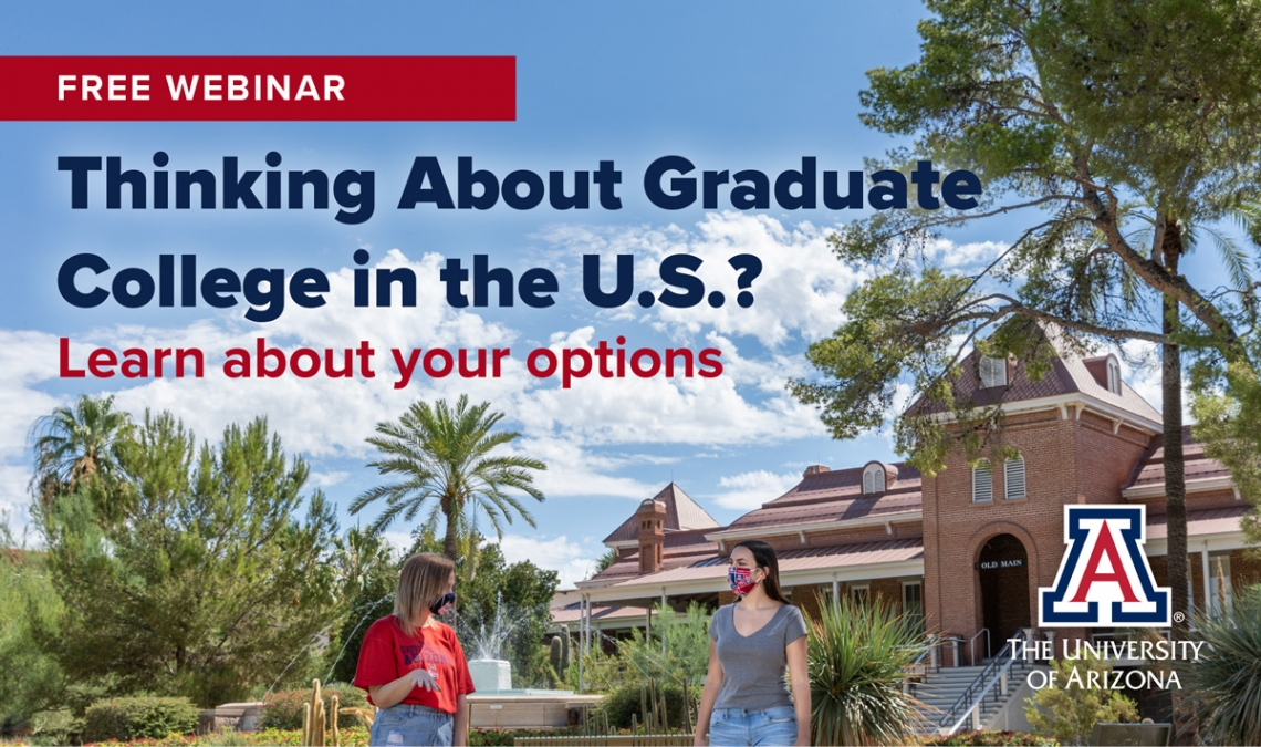 Free Webinar. Thinking about grad school in the US? Learn about your options.