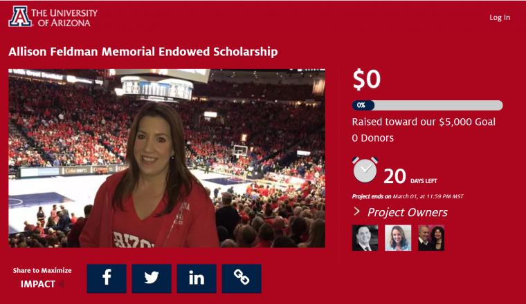 Allison Feldman Scholarship Crowdfund Link