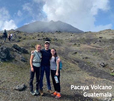 Aria Levin at Pacaya Volcano