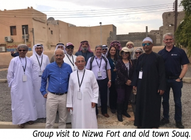 Group visit to Nizwa Fort and old town Souq.