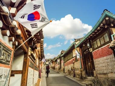South Korea with flag
