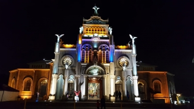 UA Study Abroad Student Brenden Barness took this photo of the city's Basilica lit up at night.