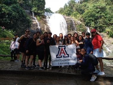 UA Study Abroad Student Reina Salgado and GEL Program participants