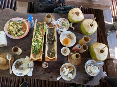 UA Study Abroad Student Reina Salgado took this photo of an amazing meal on her GEL program in Southeast Asia.