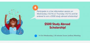 Study Abroad Scholarship Raffle 2020