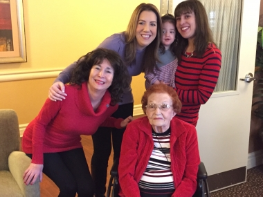 4 generations: Allison pictured with her mother Elayne, grandmother Esther Shafner, and niece Alyssa