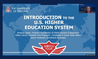 """Intro slide from presentation """"Introduction to US Higher Education System"""""""
