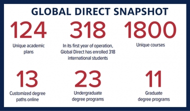 Facts and figures relating to 2020 Global Direct enrollment at UArizona